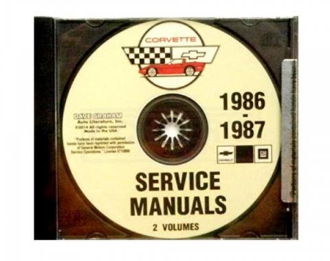 Corvette Factory Service Manual, PDF CD-ROM, 1986-1987