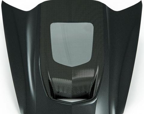 Zero7 Extractor Carbon Fiber Window Hood, Exposed Carbon Cowl | 45-8-023 Corvette 2014-2017