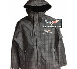 Corvette C6 Rain Jacket With Embroidered Logo, Grey