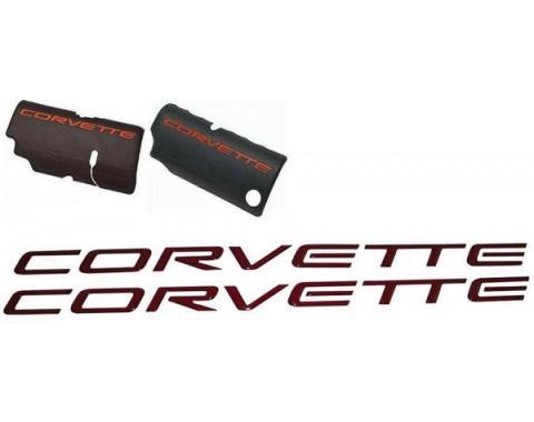 Corvette Fuel Rail 3D Lettering Kit, Magnetic Red, 1997-2004