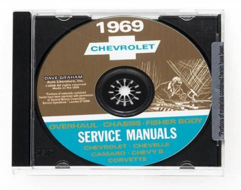 Corvette Service Manual On CD, 1969