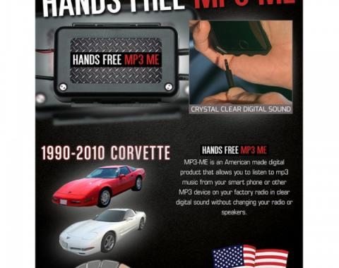 Max Performance MP3 Hidden Hands Free Auxiliary Adapter| RPZ189CV Corvette 1990-2010
