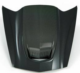 Zero7 Extractor Carbon Fiber Hood, Exposed Carbon Cowl | 45-8-021 Corvette 2014-2017