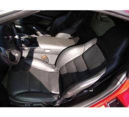 Corvette Seat Covers, Standard, Leather/Vinyl, 2005-2013 | 06-13 Titanium Gray