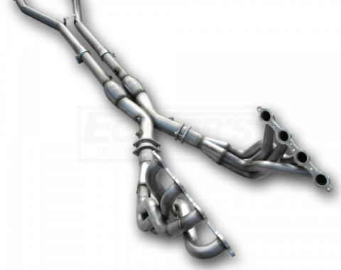 Corvette American Racing Headers 1-3/4 inch x 3 inch Full Length Headers With 3 inch X-Pipe & 2.5 inch Cats, Off Road Use Only, 2001-2004