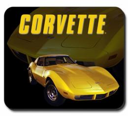 Corvette Yellow Stingray Mouse Pad