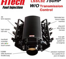 Ultimate LS Fuel Injection Kit for LS3/L92 - 750HP w/o Trans. Control | FiTech - 70013