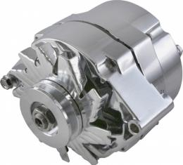 Corvette Alternator, 70 AMP, Chrome, 1969-1982
