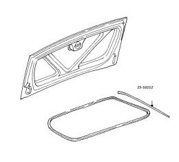 Corvette Weatherstrip, Trunk Side, Convertible/ Fixed Roof Coupe/Z06, Auxilary, Left/Right, 1998-2004