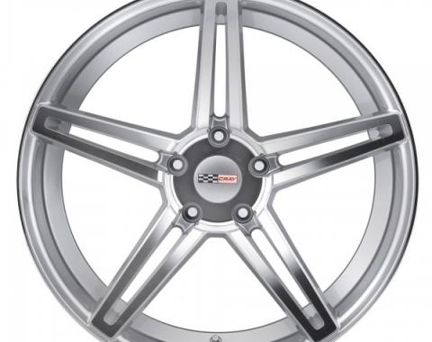 Corvette Wheel, Cray Brickyard, 19x11, Rear Only, Silver With Mirror Cut, 2014-2017