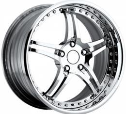 "Corvette Forged Wheel Set, 18""/19"", Chrome, Standard C6, 2005-2013"