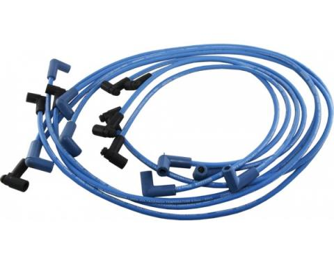 Corvette Spark Plug Wires, Moroso, Blue, 1975-1982