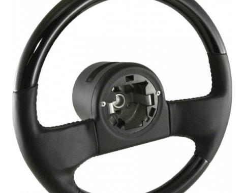 Premier Quality Products, Steering Wheel, Blackwood and Leather| ST1030BLACKWOOD Corvette 1984-1989