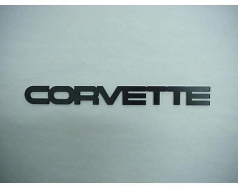 Corvette Rear Bumper Emblem, Acrylic, Black, 1984-1990