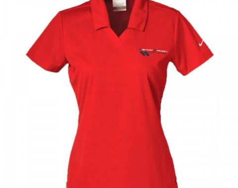 Corvette Grand Sport Ladies Nike Golf Shirt, Varsity Red