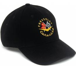 """The Corvette Cap, With Early Style Logo, Black, """"New Generation"""""""