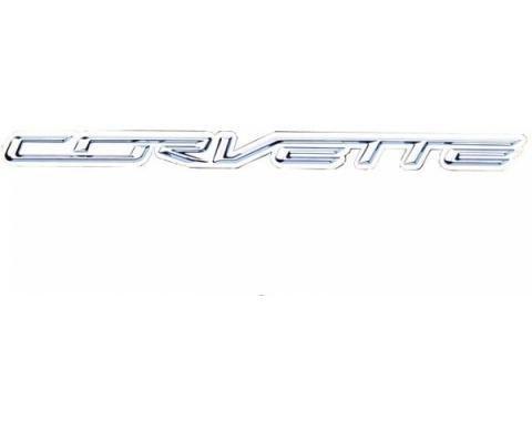 "Corvette Metal Sign, C7 Corvette Script 50"" X 4"""