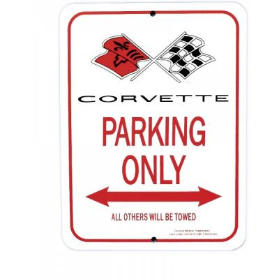 Corvette Parking Sign, With 1968 C3 Logo
