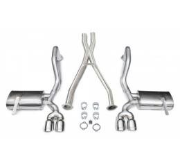 """Corvette Exhaust System, With 3.5"""" Quad Tips & X-Pipe, Pro-Series, Extreme, CORSA, 1997-2004"""