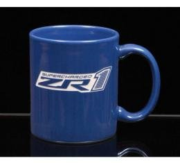 Corvette 11 Ounce Coffee Mug, C-Handle, Royal Blue, 1953-2013