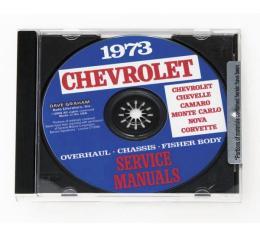 Corvette Service Manual On CD, 1973