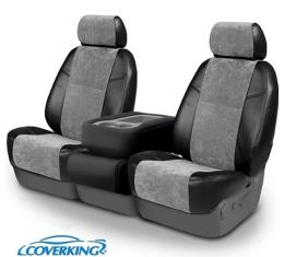 Corvette Coverking Alcantara Suede Seat Covers, Sport Seat With Diagonal Stitching Across Its Seat Bottom, 1994-1996