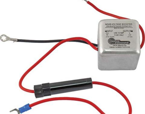 Custom Autosound Power Booster, High Output, Negative Ground, 1-3/4 Cube, 3.7 To 5.0 Amps Output