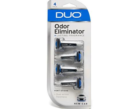 Duo 2-in-1 Auto Air Fresheners Vent Sticks 4 Pack