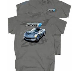 Corvette T-Shirt, ZR1 Supercharged, Charcoal
