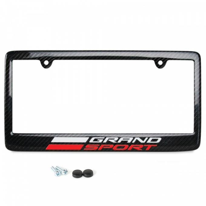 2014-2018 Corvette Grand Sport Carbon Fiber License Plate Frame