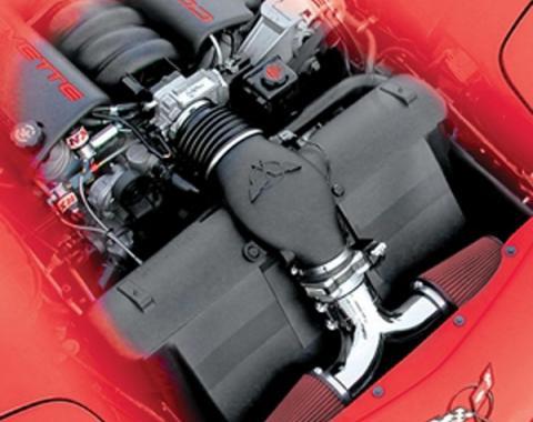 Corvette Intake, Dual Air System, Chrome Plated, 1997-2000