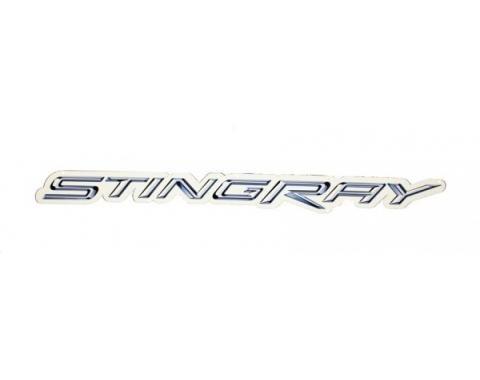 "Corvette Metal Sign, C7 Stingray Script 18"" X 2"""