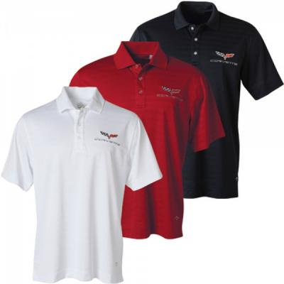Corvette Mens C6 Callaway Performance Polo, Black