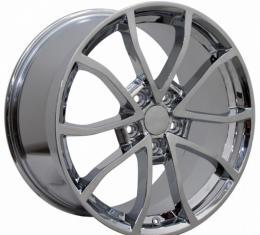 Corvette Z51-Style Wheel, Chrome Finish With Cap, 18X8.5, 5X4.75, 2014-2017