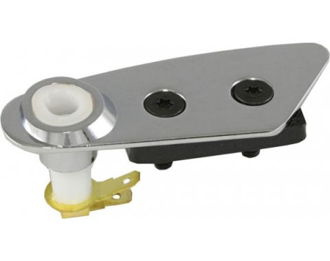 Corvette T-Top Roof Lock Plate, With Switch, Left, Chrome, 1978