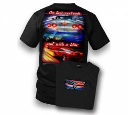 Corvette T-Shirt, C6 Best Weekends, Black