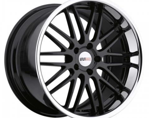 Corvette Wheel, Cray Hawk, 19x11'', Rear Only, Gloss Black With Chrome Stainless Lip, 2014-2017