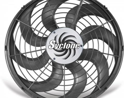 Cooling Fan, Electric, Universal, Single, 2500 CFM, S-Blade, Syclone, Flex-a-lite