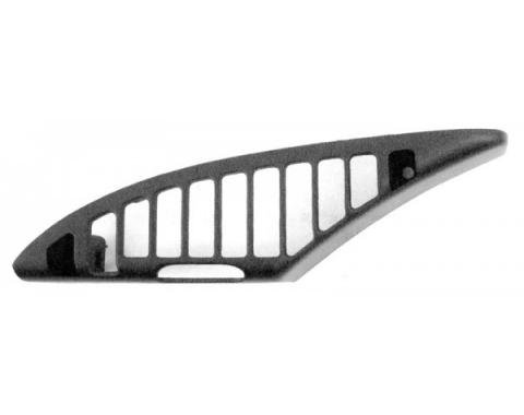 Corvette Air Conditioning Dash Vent Grille, Left, Black, 1992-1993