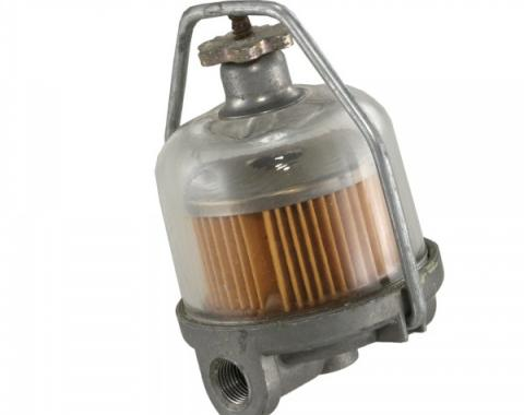 Chevy Fuel Filter Assembly, Glass Bowl, 1958-1972