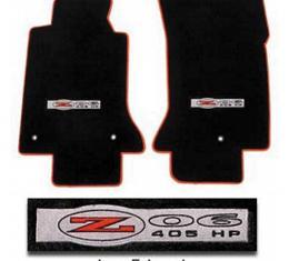 Lloyd Mats, Floor Mats With C5 Z06 / 405 Logo, Velourtex| 56793 Corvette 2002-2004