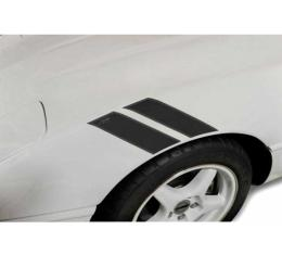 Corvette Fender Accent Stripes, Black With 40th AnniversaryEmblem, 1984-1996