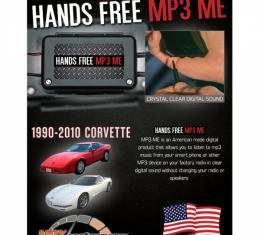 Max Performance MP3 Hidden Hands Free Auxiliary Adapter| RPZ189CV Corvette 1990-2010