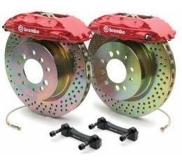 Corvette Brake Kit, Rear, Cross-Drilled, Brembo, 1997-2004