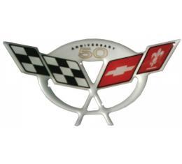 Corvette C5 50th Anniversary Air Bridge 3D Domed Logo Decal, 2003