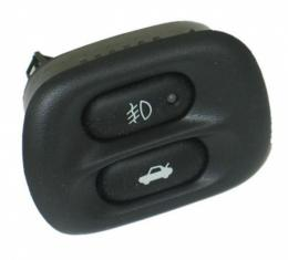 Corvette Fog Lamp Switch, w/Rear Compartment Release Switch, 1997-2004