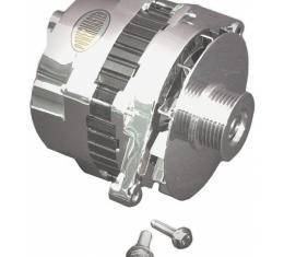 Corvette Alternator, Power Master, Chrome, 140 Amp, 1992-1993
