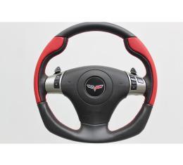 Corvette Custom Shape Leather Steering Wheel, 2006-2013