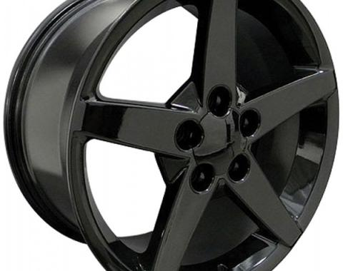 Corvette 17 X 8.5 C6 Style Reproduction Wheel, Black, 1988-2004