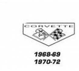 Legendary Auto Interiors Ltd Cargo Mat, Rubber, With Logos  25-00076 Corvette 1968-1969